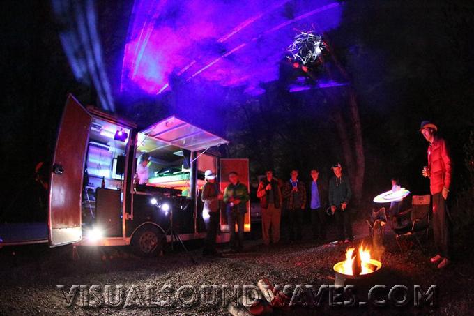 Mobile DJ Booth. DJ Trailer. Outdoor Events DJ. Three River Kayak Festival, Pincher Creek, Alberta.